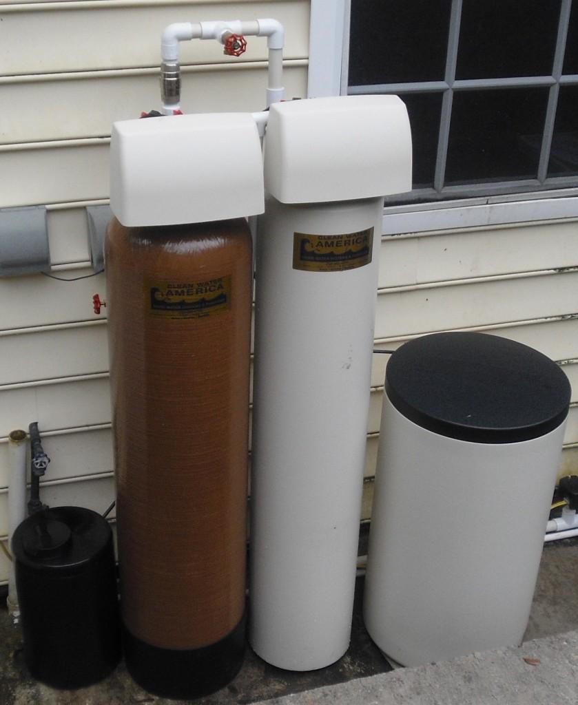 Egg Beater Sulfur Removing Filter System and Softener installed in Buckingham
