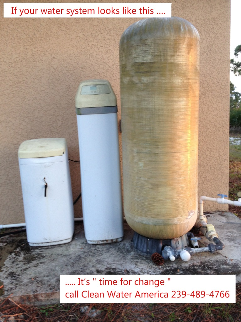If your water system looks like this …. It's time to change call Clean Water America 239-489-4766